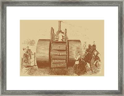 1866 Steam Road Roller Framed Print by Science Source