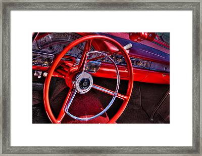 1958 Ford Fairlane Skyliner Convertible Framed Print by David Patterson