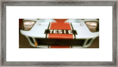 1965 Ford Gt40 Framed Print by John Colley