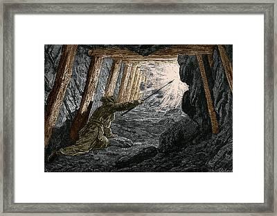 19th-century Coal Mining Framed Print