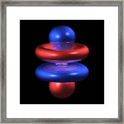 4fz3 Electron Orbital Framed Print by Dr Mark J. Winter