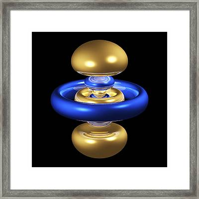 5dz2 Electron Orbital Framed Print by Dr Mark J. Winter