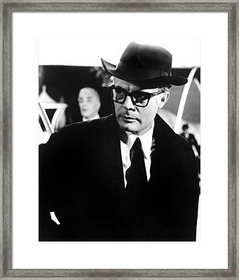 8 12, Marcello Mastroianni, 1963 Framed Print