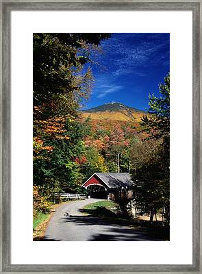 A Covered Bridge Framed Print by Richard Nowitz