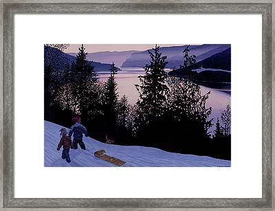 A Day Seized And Well Spent Framed Print by Neil Woodward