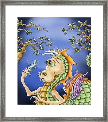 A Little Bird Told Me Framed Print by Hank Nunes