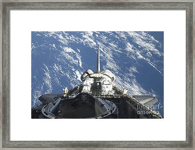 A Partial View Of Space Shuttle Framed Print by Stocktrek Images