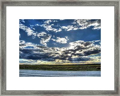 A September Sunset Framed Print by Jackie Novak