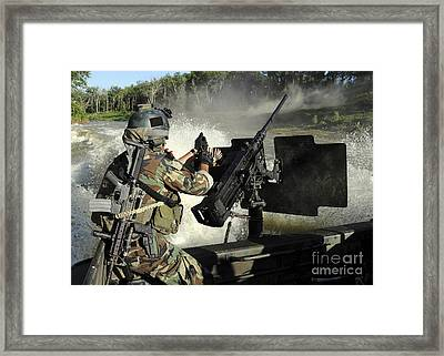 A Special Warfare Combatant-craft Framed Print