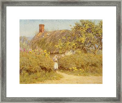 A Surrey Cottage Framed Print by Helen Allingham