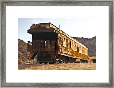 Abandoned Train Car Framed Print