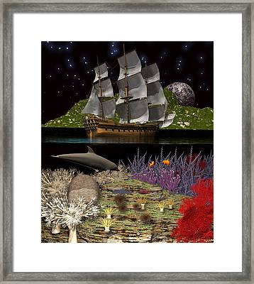 Above And Below Framed Print by Claude McCoy