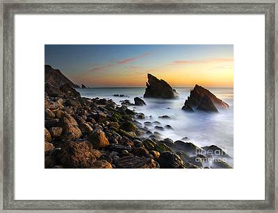 Adraga Beach Framed Print by Carlos Caetano