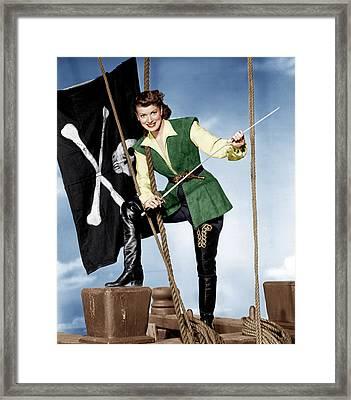 Against All Flags, Maureen Ohara, 1952 Framed Print by Everett