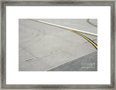 Airport Tarmac Framed Print