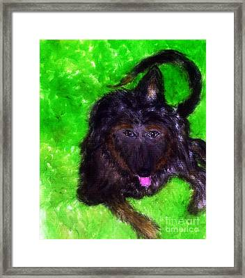Framed Print featuring the painting AJ by Ayasha Loya