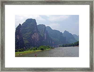 Along The Li Framed Print