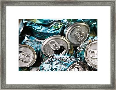Aluminum Cans For Recycling Framed Print