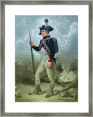 American Continental Soldier Framed Print by Photo Researchers