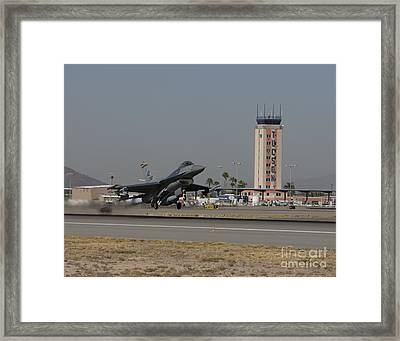An F-16 Fighting Falcon Takes Framed Print