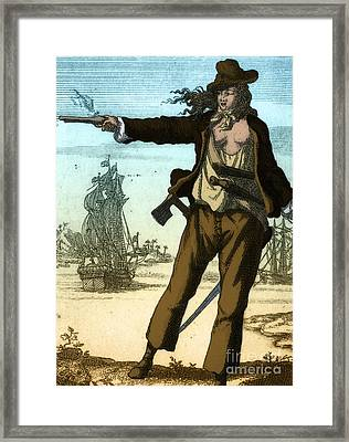 Anne Bonny, 18th Century Pirate Framed Print by Photo Researchers