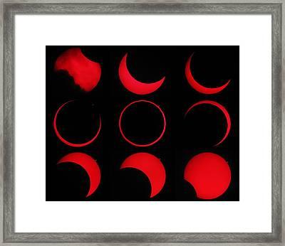 Annular Solar Eclipse Framed Print by Laurent Laveder