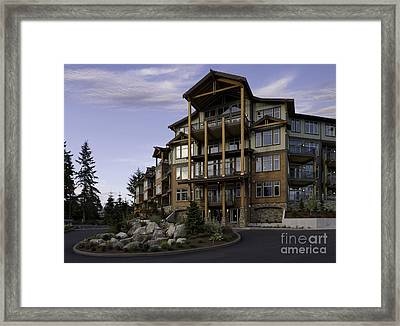 Apartment Building Entrance Framed Print by Robert Pisano