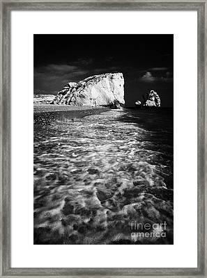 Aphrodites Rock Petra Tou Romiou Republic Of Cyprus Europe Framed Print by Joe Fox