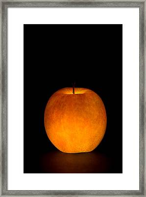 Framed Print featuring the photograph Apple by Michael Dorn