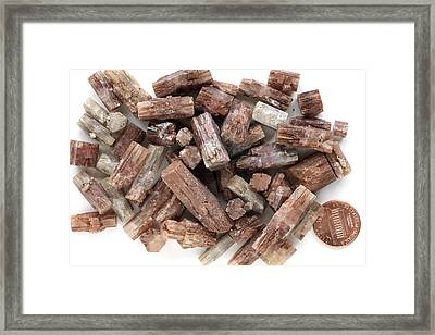 Aragonite Crystals Framed Print by Dirk Wiersma