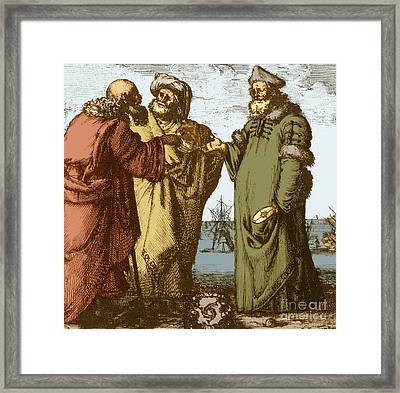 Aristotle, Ptolemy And Copernicus Framed Print by Science Source