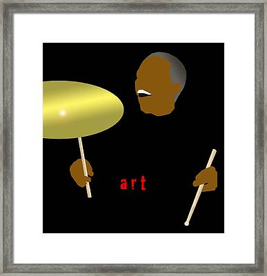 Art Blakey Framed Print by Victor Bailey