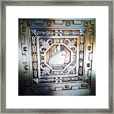 Art Deco Design Framed Print by Natasha Marco