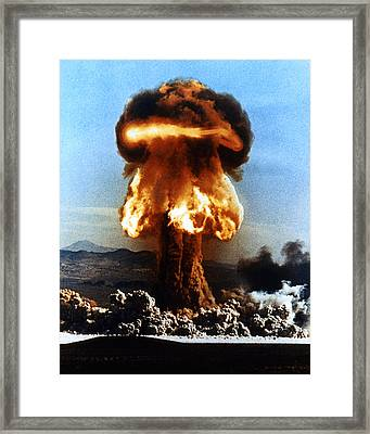 Atomic Bomb Explosion Framed Print by Us Department Of Energy