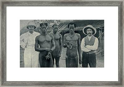 Atrocities Of The Rubber Slavery Framed Print by Everett
