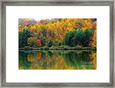 Autumn Big Ditch Lake Framed Print by Thomas R Fletcher