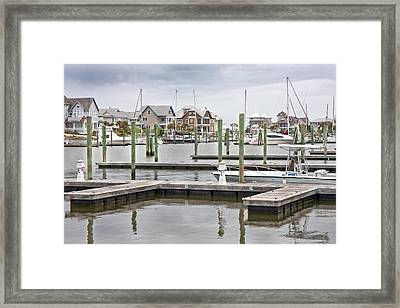 Bald Head Island Marina  Framed Print by Betsy Knapp