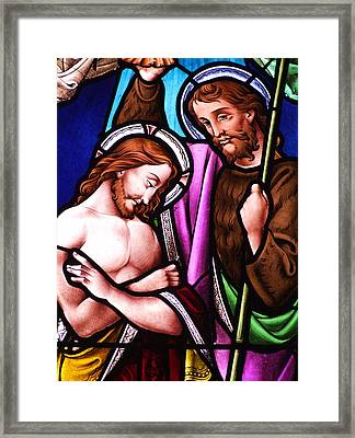 Baptism Framed Print by Munir Alawi