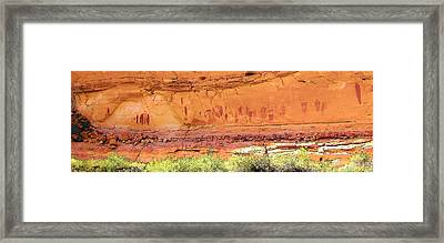 Barrier Canyon Style Rock Art Framed Print
