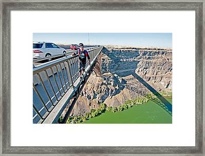 Base Jump Framed Print by Elijah Weber