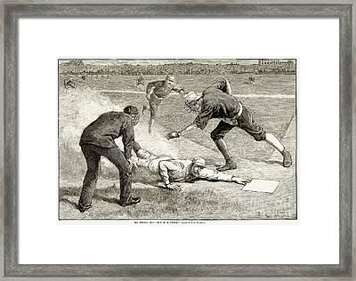 Baseball Game, 1885 Framed Print