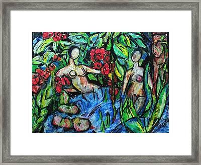 Bathers 98 Framed Print by Bradley Bishko