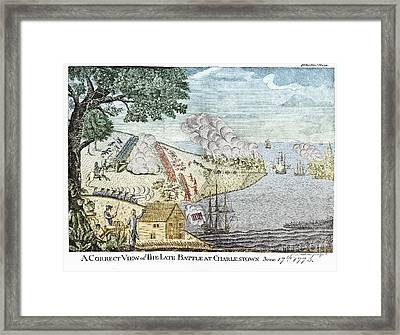 Battle Of Bunker Hill, 1775 Framed Print by Photo Researchers