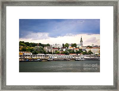 Belgrade Cityscape On Danube Framed Print