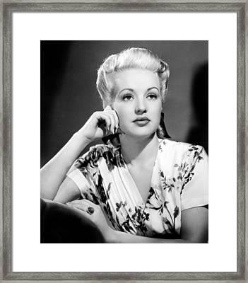 Betty Grable Framed Print