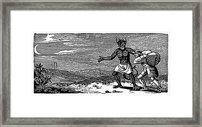 Bewick: Devil Framed Print by Granger