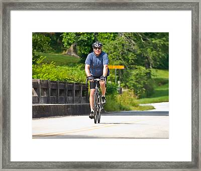Bicycle Ride Across Georgia Framed Print by Susan Leggett