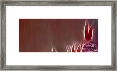 Bird Of Paradise Fractal Panel 1  Framed Print by Peter Piatt