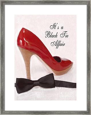 Black Tie Affair Framed Print by Anne Kitzman