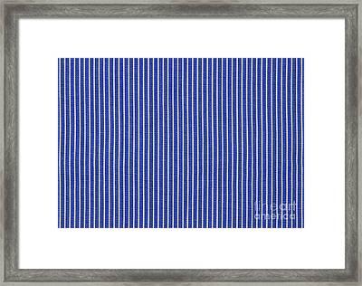 Blue And White Stripes Framed Print by Blink Images